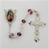 Pink & Purple St Therese Rosary  R599RF