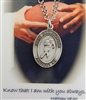 St. Christopher Football Medal with Leather Chain and Prayer Card Set