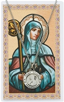 St. Brigid of Ireland Prayer Card with Pendant PSD600BDG