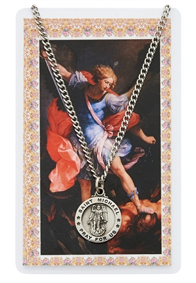 ST MICHAEL PRAYER CARD SET WITH MEDAL