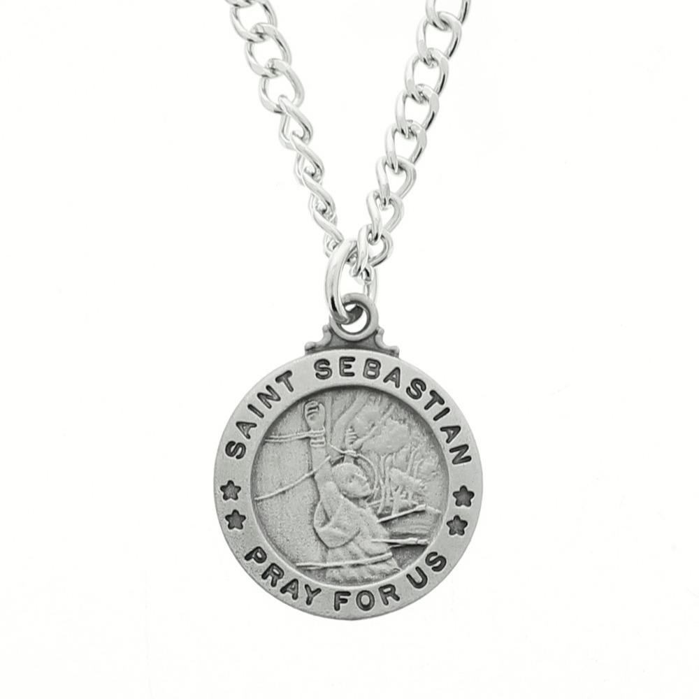 St sebastian pendant and prayer card set our aloadofball Images