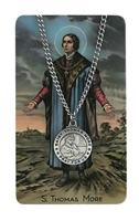 St. Thomas More Pendant and Prayer Card Set