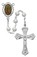 PEARL GUADALUPE ROSARY R615RF