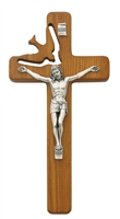 8inch Walnut Holy Spirit Crucifix 77-06