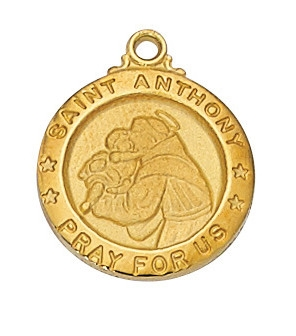 Gold over Sterling Silver St. Anthony Pendent J700AN