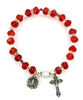 Ruby (July) Birthstone Rosary Bracelet BR813C