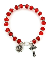 Ruby (July) Birthstone Rosary Bracelet BR13C