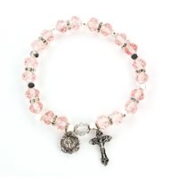 Rose (October) Birthstone Rosary Bracelet BR816C