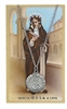 Saint Rose of Lima Pewter Medal & Prayer Card Set