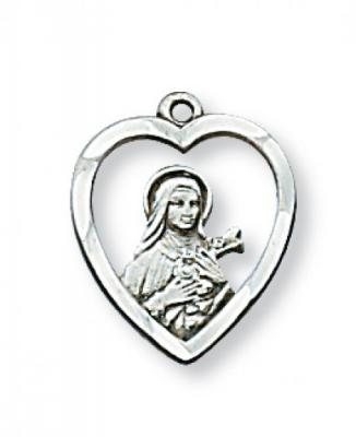 Sterling Silver St. Therese Medal