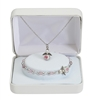 "16"" Angel Pendant and Bracelet Set PND3W"