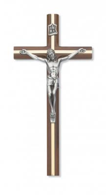 "10"" Walnut Crucifix 80-10"