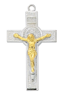 Sterling Silver Two-Tone St. Benedict L9199