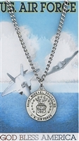 St. Michael Air Force Medal with Prayer Card SET