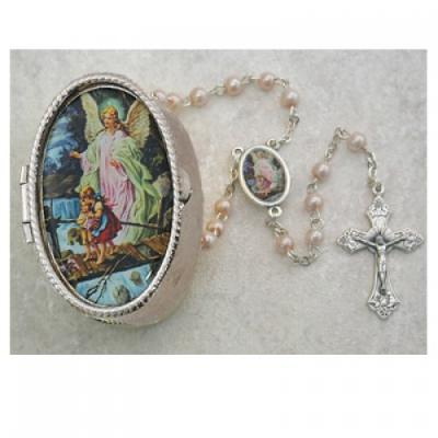 Boy or Girl Angel Baby Rosary with Case 760-24