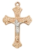 Rose Gold Sterling Silver Two-Tone Crucifix JR9210
