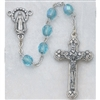 Aqua (March) Crystal Bead Rosary 120-AQR