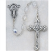 Crystal (April) Bead Rosary 120-CRR