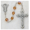Topaz (November) Crystal Bead Rosary 120-TOR