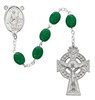 Affordable Shamrock Irish Celtic Rosary with St. Patrick Centerpiece 327R