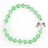 August Peridot Crystal Youth Angel Bracelet BR925C