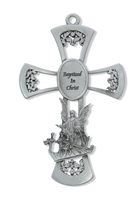 "Pewter 6"" Baptism Cross"