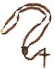 COPPER ROSE CORDED NECKLACE ROSARY  P392C