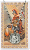 St. Florian Shield Medal and Prayer Card Set Large