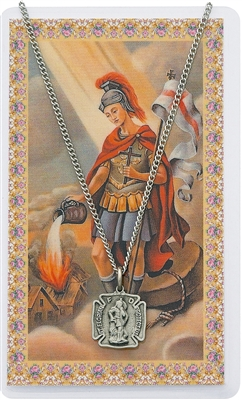 ST. FLORIAN SHIELD MEDAL AND PRAYER CARD SET PSD424