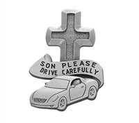 Son Please Drive Carefully Pewter Visor Clip VC-796
