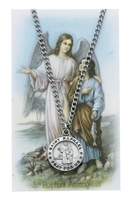 St. Raphael the Archangel Medal and Prayer Card Set