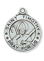 Sterling Silver St. Timothy Pendant L600TY
