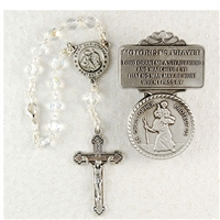 Saint Christopher Auto Rosary and Visor Clip AV-CH