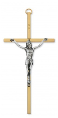 "6"" Brass Crucifix 80-95"