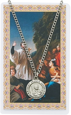 St. Francis Xavier Medal and Prayer Card Set PSD600FX