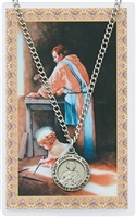St. Joseph The Worker Medal and Prayer Card SET