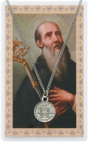ST. BENEDICT PRAYER MEDAL CARD SET PSD434