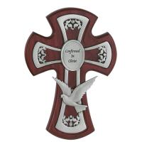 "6"" Cherry Pewter Holy Spirit Cross  77-28"