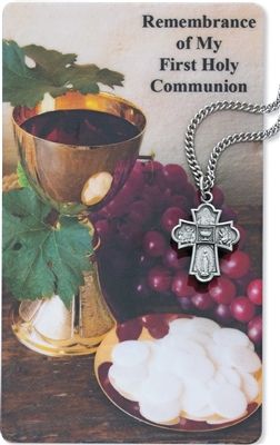 4-Way Pendant & Communion Prayer Card PSD573