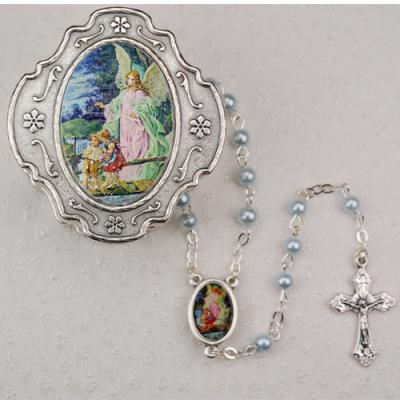 Baptism Rosary And Case