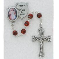 Red Divine Mercy Rosary #R254DF