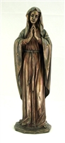 Praying Virgin Cold-Cast Bronze Lightly Hand-Painted 11.75inches
