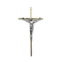 "Metal 10"" Wall Crucifix CX2301XF"