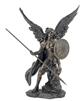 SR-74697 Archangel Raphael Lightly Hand-Painted Cold-Cast Bronze