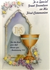 To a Special Great Grandson on His First Communion Greeting Card 65830