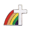 DE COLORES Rainbow Cross Lapel Pin 17483