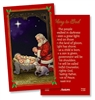 Adoring Santa Christmas Holy Card
