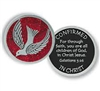 Red Epoxy Pewter Confirmation Pocket Token (Coin) PT673