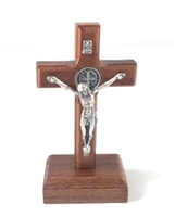 "3.5"" Standing Silver Saint Benedict Crucifix W979"