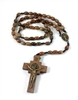 Saint Benedict Brown Bead Cord Wood Rosary 46337